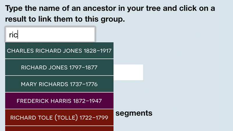 Maintain a record of ancestors where there's evidence you inherited their DNA